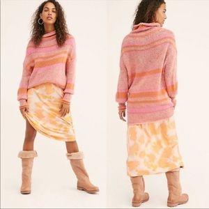 Free People Candy Stripe Tunic Sweater XS